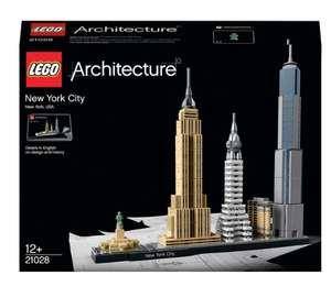 LEGO Architecture 21028 New York City Skyline / 210434 London Skyline / 21044 Paris Skyline - £34.99 each @ Smyths