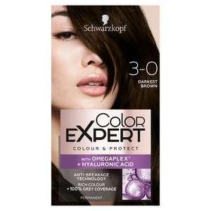 Schwarzkopf Color Expert Hair Dye Permanent, Darkest Brown / Dark Cool Brown / Mahogany Brown - 68p instore @ Superdrug, Hanley