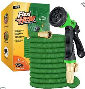 """Flexi Hose Expandable Garden Hose, 3/4"""" Solid Brass Fittings No-Kink Flexible Water Hose £32.51 with voucher Sold by I-Innovate & FB Amazon"""