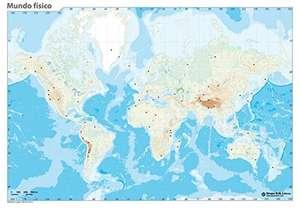 Erik World Physical Map - Blank Map Outlines 32.4 x 22.5 cm 20p (+£4.99 Non-Prime) @ Amazon