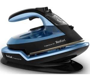 TEFAL Freemove Air FV6551 Cordless Steam Iron - Black & Blue - £42 @ Currys PC World