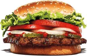 Free Whopper With Purchase Over £1 on First Click & Collect Order @ Burger King