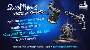 Sea Of Thieves Twitch Drops - Obsidian & Onyx Set 10am Friday 25th - Sunday 27th June @ Twitch