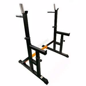 FIT4YOU Adjustable Fitness Squat Rack Stand with Spotter Dip Bars £94.99 with code @ man-brands / ebay