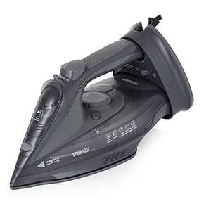 Tower T22008G CeraGlide 2-in-1 Cord or Cordless Steam Iron with Non-Stick Ceramic Soleplate - £17.99 (+£4.49 Non-Prime) @ Amazon
