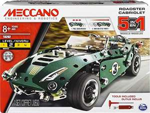 MECCANO Erector by MECCANO, 5 in 1 Roadster Pull Back Car Building Kit, for Ages 8 and up - £9.49 Prime (+£4.49 Non-Prime) @ Amazon