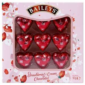 Baileys Strawberry and Cream Hearts 90g Gift Box - £3.50 Prime / +£4.49 non Prime Sold by Perpetual Bargains and Fulfilled by Amazon