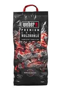 Weber Premium Holzkohle 5 kg Charcoal, Black - £7.67 Prime / £12.16 Non Prime (UK Mainland) Sold by Amazon EU @ Amazon