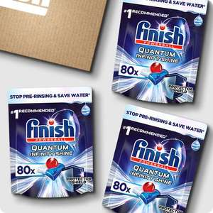 Finish Quantum Infinity Shine Classic Dishwasher Tablets - 240 tabs £27.50 with code 10OFF @ Finish Shop