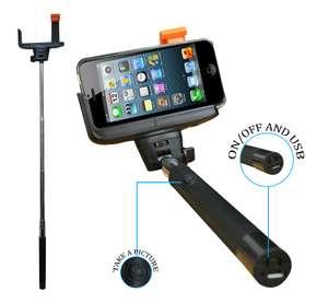 Wireless Bluetooth Mobile Phone Telescopic Camera Holder Black Selfie Stick £4.19 @ ebay / liltd_online