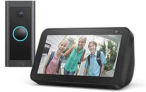 Echo Show 5 + Ring Video Doorbell Wired by Amazon, Works with Alexa - £49.99 Amazon Prime Exclusive