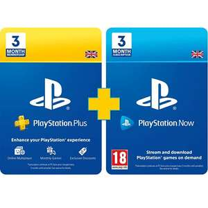 PlayStation Plus 3 Month Membership + PlayStation Now Subscription 3 Months £29.99 (Prime Customers) @ Amazon