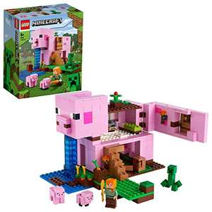 LEGO 21170 Minecraft The Pig House Building Set with Alex and Creeper Figure £25.54 Prime Exclusive @ Amazon EU