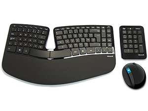 Microsoft Sculpt Ergonomic Keyboard, Mouse and Numeric Pad Set, UK Layout - Black £60.49 Amazon Prime Exclusive