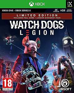 Watch Dogs Legion Limited Edition (Exclusive to Amazon.co.uk) (Xbox One/Series X) Free Upgrade £21.99 Amazon Prime Exclusive