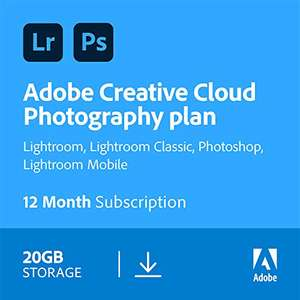 Adobe CC Photography Plan £79.99 Amazon Prime Exclusive