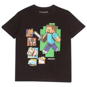 Minecraft Steve And Friends Boys T-Shirt From £7.20 Delivered (UK Mainland) with code From Popgear