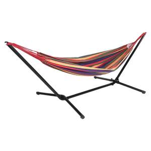 Free Standing Striped Garden Hammock With Metal Stand £45 delivered @ WeeklyDeals4Less
