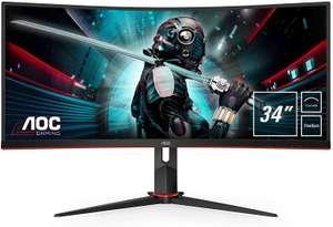 AOC Gaming CU34G2 - 34 Inch WQHD Curved Monitor, 100Hz, 1 ms, VA, AMD FreeSync, Height Adjust, USB Hub - £288.97 Amazon Prime Exclusive