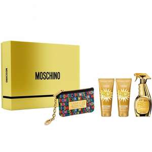 Moschino Fresh Gold Eau De Parfum Gift Set 100ml only £33.70 with FREE delivery at Justmylook