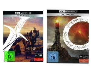 The Hobbit:Trilogy 4K UHD £45.60 / Lord of the rings trilogy 4K UHD £46.47 @ Amazon EU (UK mainland)