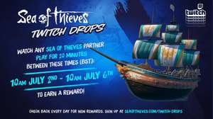 Sea Of Thieves Twitch Drops Friday 2nd July - Tuesday 6th - Gilded Phoenix Set