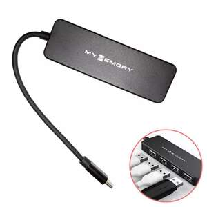 MyMemory Type-C 4-Port USB 3.0 Hub - Black for £5.99 or £10 with HDD Protective Case delivered @ Mymemory