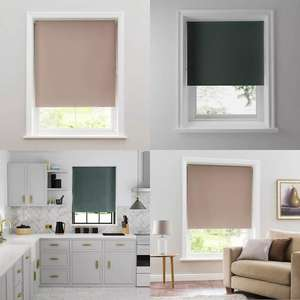 Teal or Mushroom Blackout Roller Blind from £4 with Click and Collect @ Dunelm