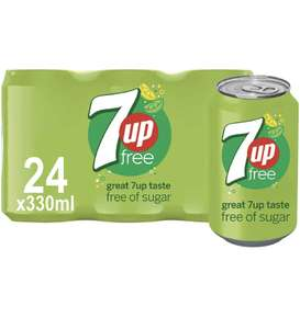 7up free 330ml Cans 24 Pack £6.45 + £4.49 Non Prime @ Amazon