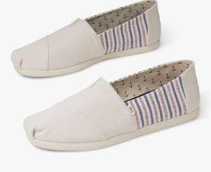 TOMS Alpargata Stripe Espadrilles Men's Shoes £12 (£2 Collection / £3.50 delivery) @ John Lewis & Partners
