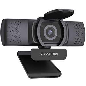 EKACOM Webcam for PC, 1080P HD Web Cam, Autofocus Webcams with Mic, 30fps USB Microsoft Webcam £8.78 Prime (+£4.49 Non-Prime) @ Amazon EU