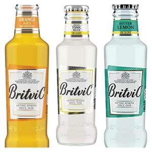 Britvic Orange Juice/Indian tonic water/bitter lemon- Pack of 24 x 200ml £10 @ Amazon (£4.49 p&p non prime)