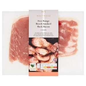 No.1 Free Range Beech Smoked Back Bacon 200g - £2.50 / No.1 Beech Smoked Streaky Bacon 230g - £2.50 @ Waitrose