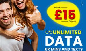 Lycamobile UNLIMITED O2 4G data, calls, texts £15/month for up to 3 months. 30 DAY CONTRACT (new customers)