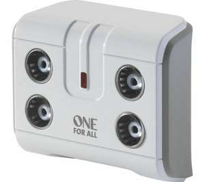 ONE FOR ALL SV9604 4-Way TV Signal Booster - £9.99 delivered at Currys & Currys on Ebay