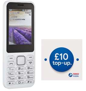 Verve Connect IMO Dash Black / White Mobile Phone + £10 Top Up With 10GB Data - £19.99 @ Tesco Mobile