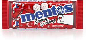 Mentos Chewy Vanilla Mint Candy Cane, 25 Packs of 3 Rolls (75 rolls in total ) £10.95 (£4.49 p&p non prime) @ Amazon