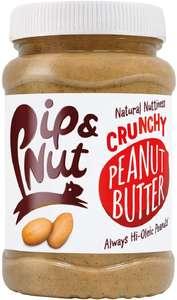Pip & Nut Crunchy peanut butter 6 x 400g (2.4Kg) £12.16 (+£4.49 nonPrime) Amazon