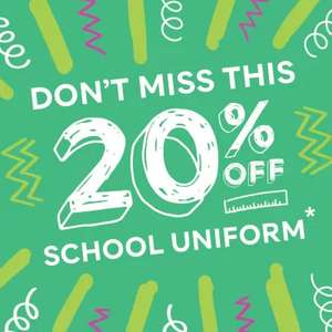20% off school uniforms online and in-store - from £2 (£3.50 delivery / Free Click and & Collect) Some Exclusions Apply at Marks & Spencer
