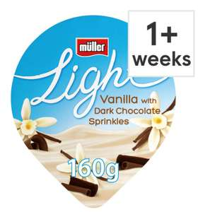Muller Light Yogurt 160G - various flavours 10p (Min basket charge/Delivery charge applicable) @ Tesco