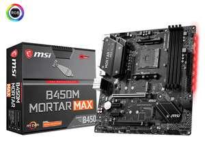 MSI B450M MORTAR MAX AMD Ryzen Mystic Light RGB Micro ATX DDR4 Motherboard £49.95 at AWD-IT