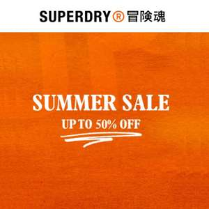 Superdry Summer Sale - Up to 50% Off + Free Delivery & Free Returns @ Superdry