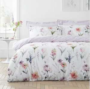 Bryony Purple Reversible Duvet Cover and Pillowcase Set Single £6/Double £9/King £11/Super King £14 £3.95 delivery @ Dunelm