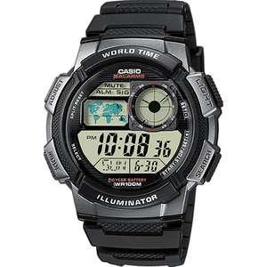 Casio AE-1000W-1BVEF Men's Black Resin World Time Digital Watch £15.99 @ H.Samuel