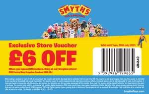 £6 off £15 spend Smyths Toys - Croydon