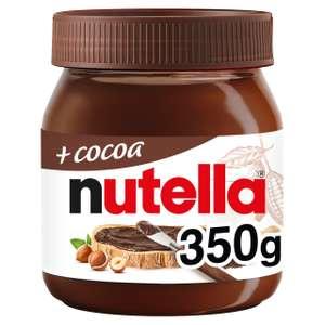 Nutella + Cocoa Hazelnut Chocolate Spread 350g - £2 @ Morrisons