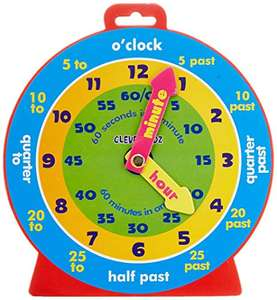 Premier Stationery Clever Kidz Magnetic Clever Clock £2.22 (+£4.49 Non Prime) Delivered @ Amazon
