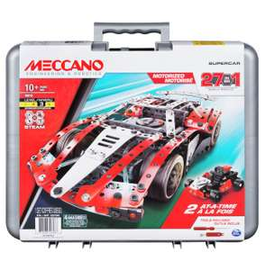Meccano 27-in-1 Supercar S.T.E.A.M Building Set - £15 + Free Click and Collect at Argos