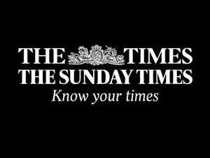 The Times/The Sunday Times digital subscription £3 for 3 months