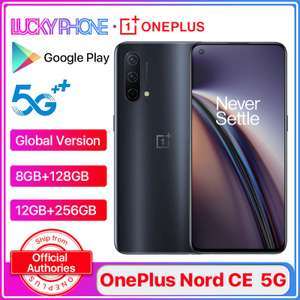 Global Version OnePlus Nord CE 5G Smartphone 12GB/256GB Snapdragon 765G 6.44'' 90Hz Fast Charging 30W £258.67 @ Ali Express/LuckyPhone Store